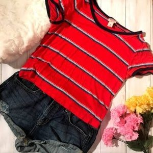 MOSSIMO CROP TEE RED